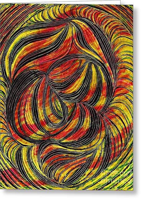 Curved Lines 2 Greeting Card by Sarah Loft
