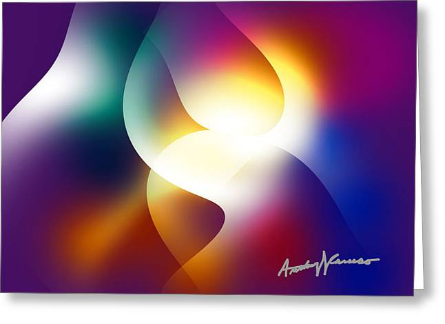 Curves And Light Greeting Card