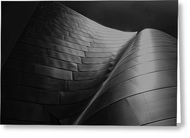 Curves Frank Gehry Aia Greeting Card by Chuck Kuhn