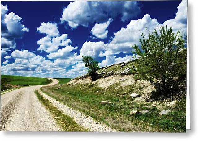 Curving Gravel Road Greeting Card
