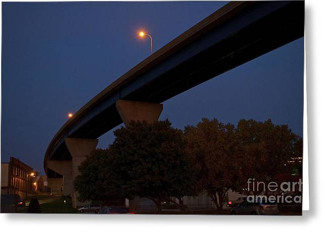 Curvy Bayview Evening -luther Fine Art Greeting Card by Luther Fine Art