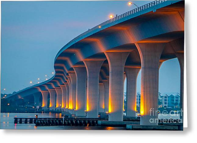 Curvy Bridge Greeting Card by Tom Claud
