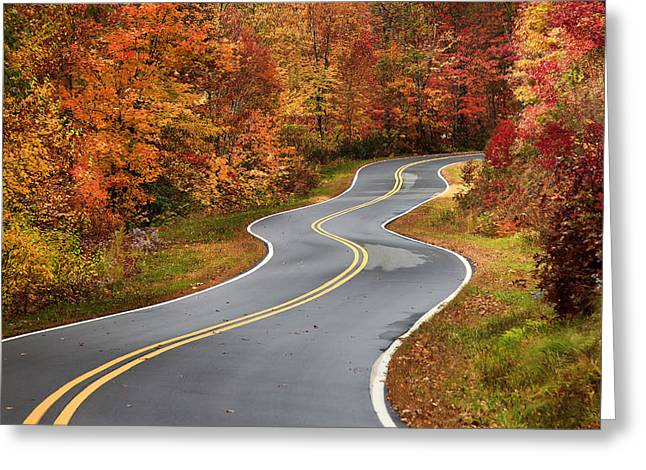 Curvy Road In The Mountains Greeting Card