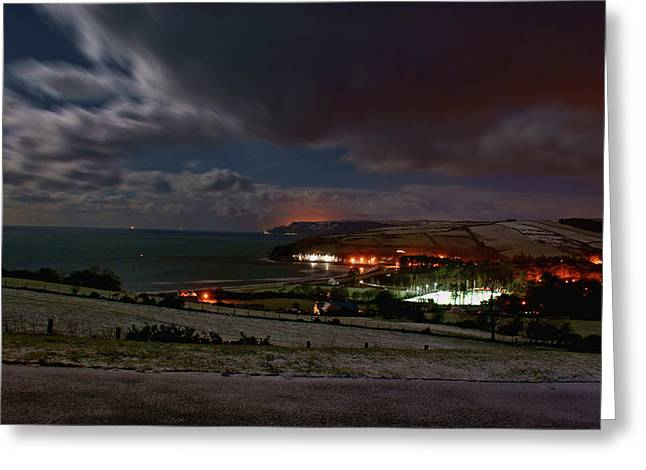Cushendun By Night Greeting Card