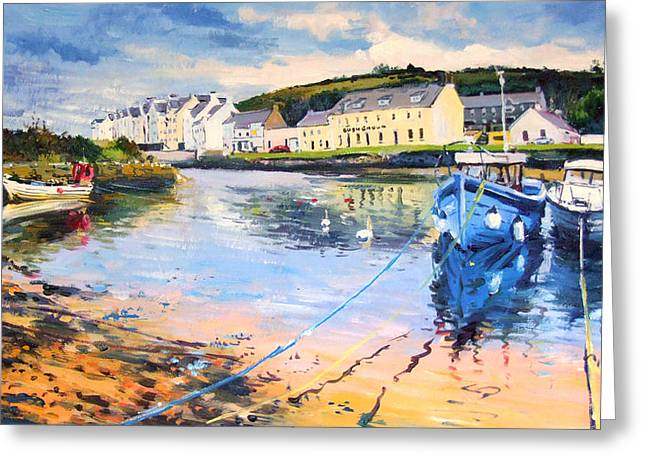 Small Fishing Village Greeting Cards - Cushendon Greeting Card by Conor McGuire