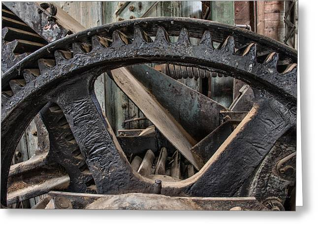 Custer Dredge Gears 2 Greeting Card by Leland D Howard