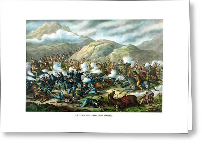 Custer's Last Stand Greeting Card by War Is Hell Store