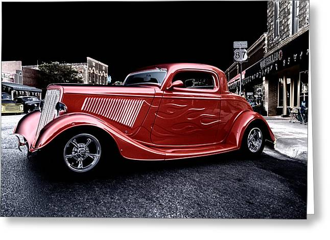 Custom Car On Street Greeting Card