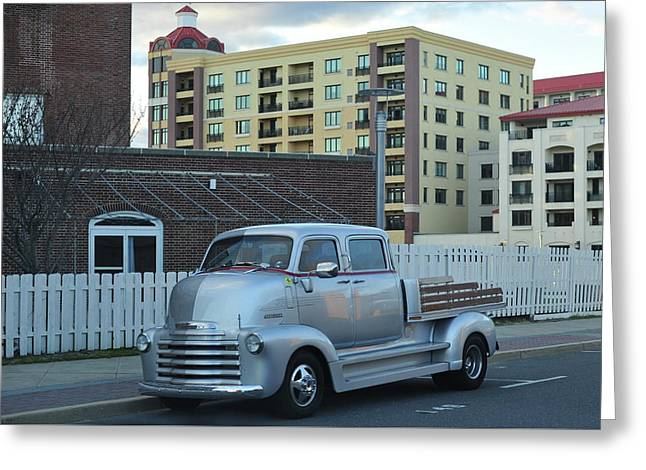Greeting Card featuring the photograph Custom Chevy Asbury Park Nj by Terry DeLuco