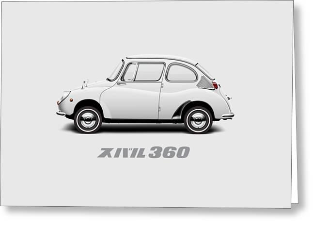 Custom Color 1970 Subaru 360 Greeting Card by Ed Jackson