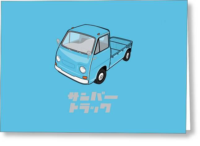 Custom Color Subaru Sambar Truck Greeting Card