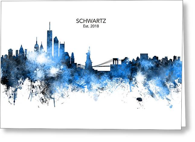 Custom New York Skyline Greeting Card