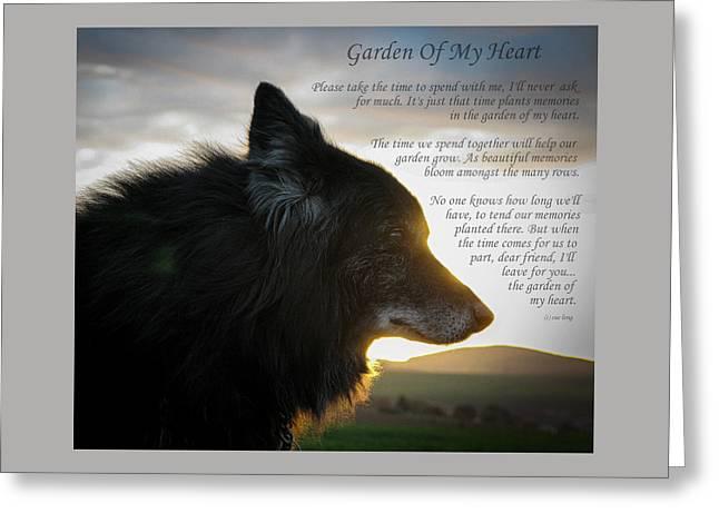 Custom Paw Print Garden Of My Heart Greeting Card