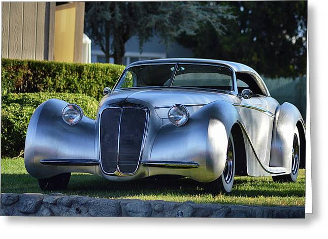 Greeting Card featuring the photograph Custom Stainless Roadster by Bill Dutting