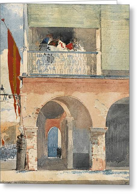 Customs House. Santiago De Cuba Greeting Card