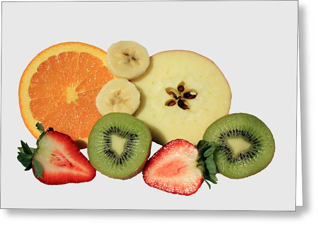 Cut Fruit Greeting Card by Shane Bechler