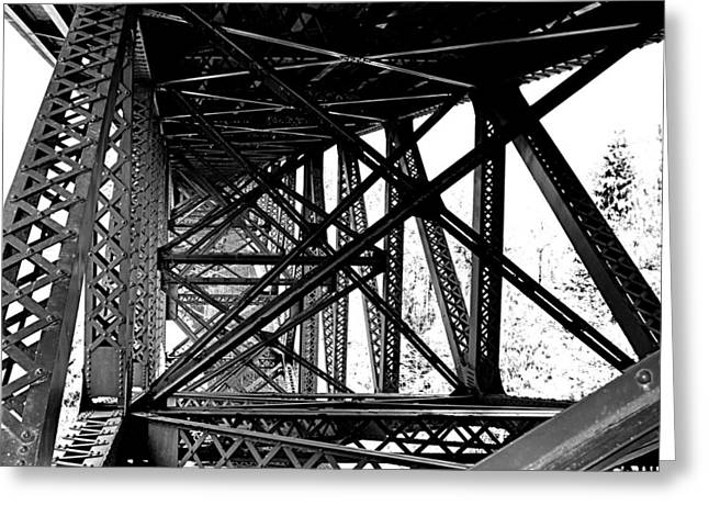 Greeting Card featuring the photograph Cut River Bridge by SimplyCMB