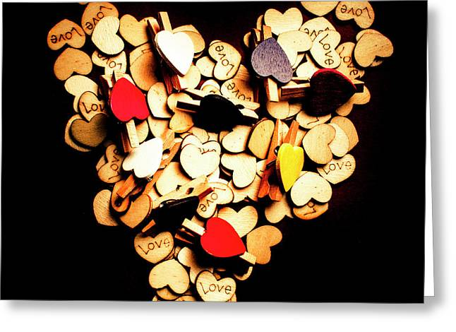 Cute Button Love Greeting Card by Jorgo Photography - Wall Art Gallery