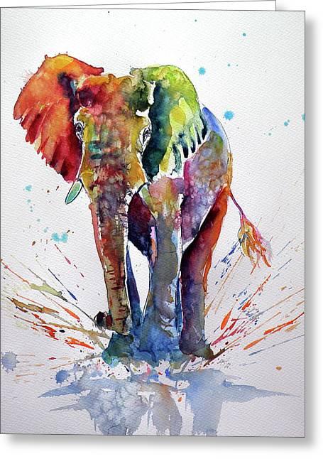 Cute Colorful Elephant Greeting Card