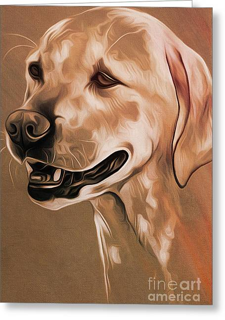 Cute Dog  Greeting Card by Gull G