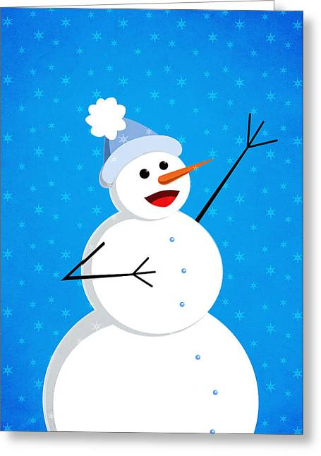 Cute Happy Snowman Greeting Card