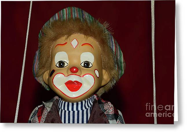 Greeting Card featuring the photograph Cute Little Clown By Kaye Menner by Kaye Menner