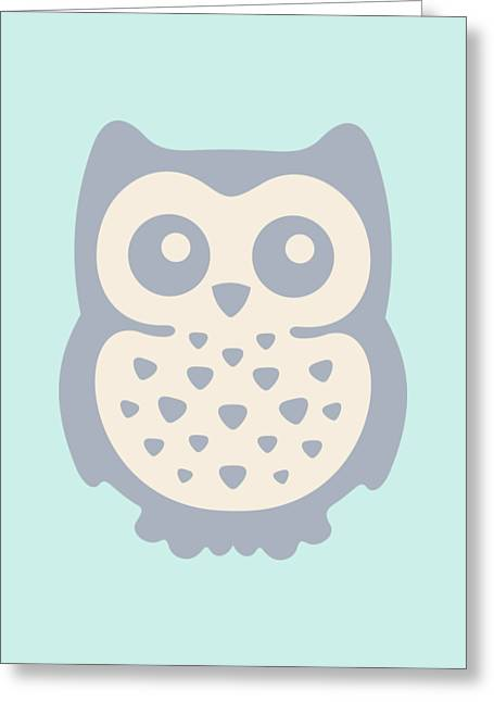 Cute Owl Greeting Card by Julia Jasiczak
