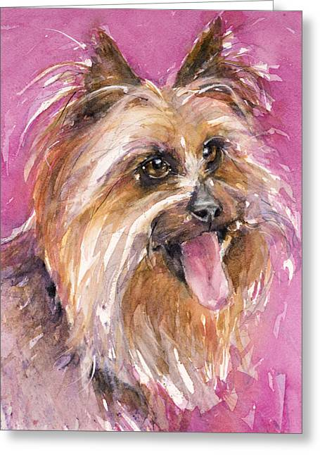 Cutie Pie Greeting Card by Judith Levins