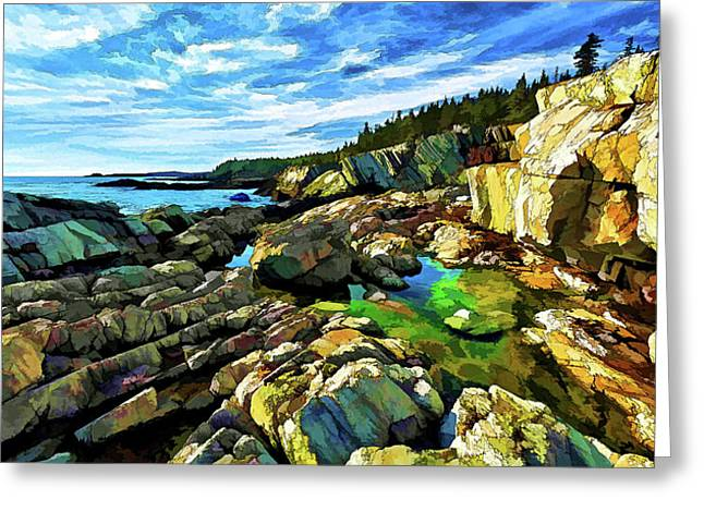 Cutler Coast At Fairy Head Greeting Card