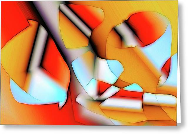 Greeting Card featuring the digital art Cutouts by Ron Bissett