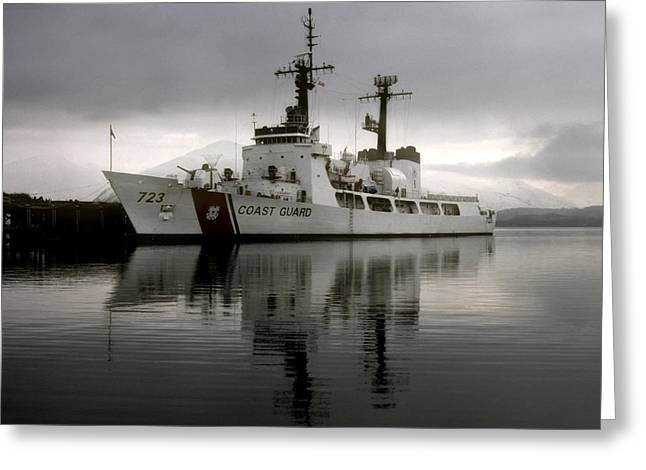 Cutter In Alaska Greeting Card by Steven Sparks