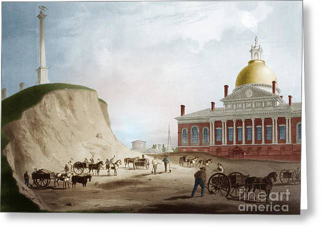 Cutting Down Of Beacon Hill, 1811 Greeting Card by Science Source