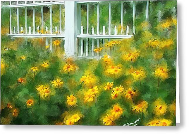 Cutting Gardens II Greeting Card by Eddie Durrett