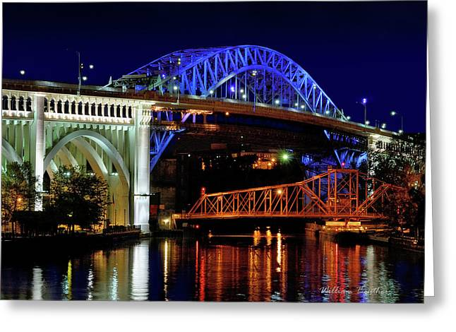 Cuyahoga Bridges Greeting Card