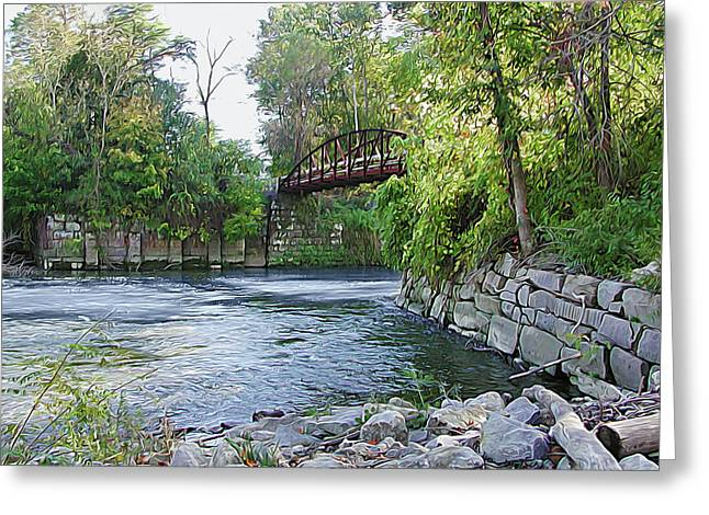 Cuyahoga River At Peninsula Greeting Card