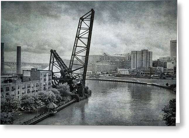Cuyahoga River Lift Bridge Greeting Card