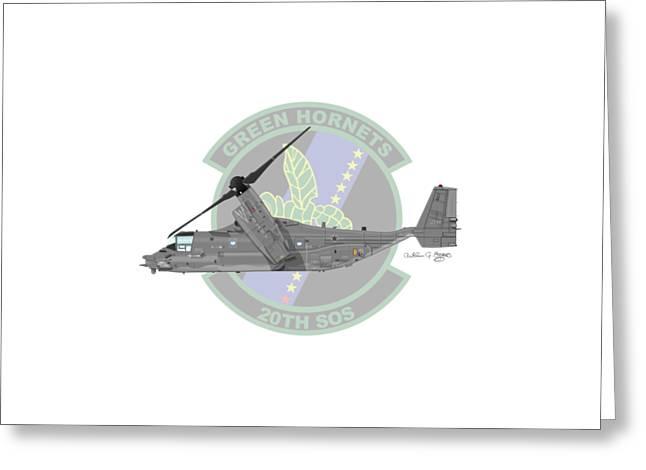 Cv-22b Osprey 20sos Greeting Card by Arthur Eggers
