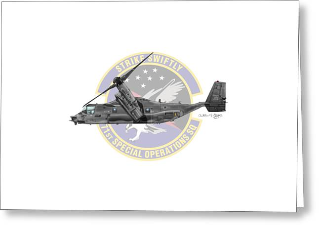 Cv-22b Osprey 71sos Greeting Card by Arthur Eggers