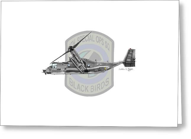 Cv-22b Osprey 8sos Greeting Card by Arthur Eggers