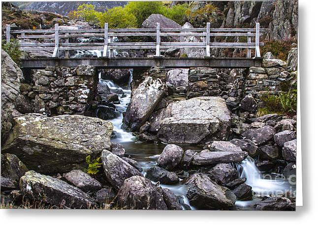 Cwm Idwal Bridge Greeting Card by Chris Evans