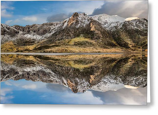 Cwm Idwal Reflections Greeting Card by Adrian Evans