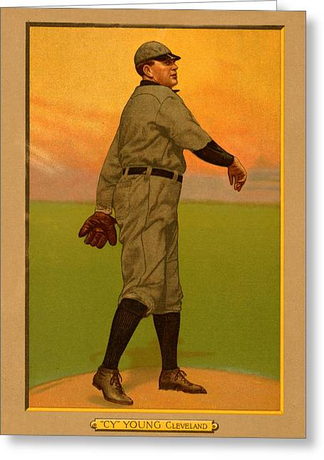 Cy Young Greeting Card by Vintage Pix