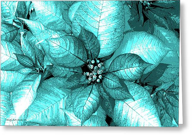 Turquois Greeting Cards - Cyan Shimmer Greeting Card by DigiArt Diaries by Vicky B Fuller