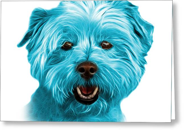Cyan West Highland Terrier Mix - 8674 - Wb Greeting Card