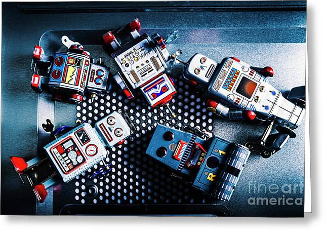 Cyborg Technology Reset Greeting Card by Jorgo Photography - Wall Art Gallery