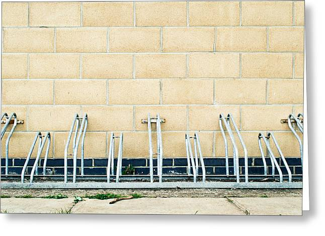Cycle Racks Greeting Card by Tom Gowanlock