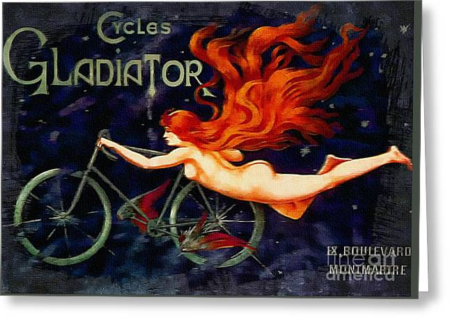 Cycles Gladiator - Vintage 1895 Greeting Card