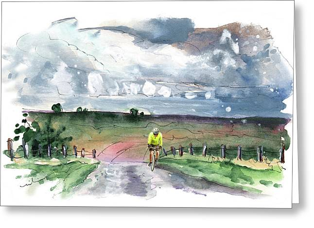 Cycling On The North Yorkshire Moors Greeting Card