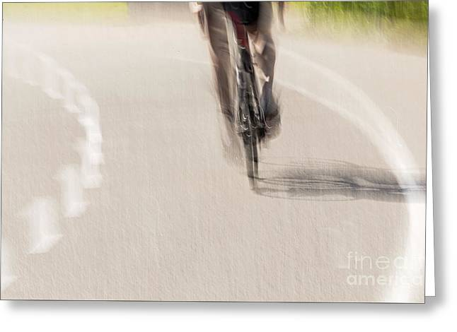 Cycling Greeting Card by Kate Brown