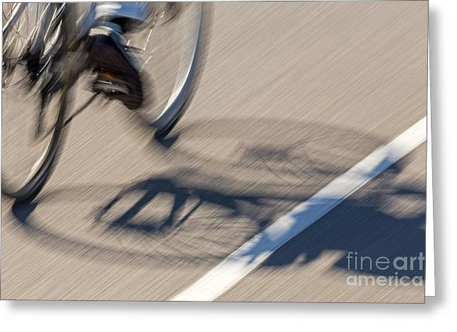 Cycling Two Greeting Card by Kate Brown